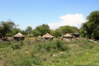 Rural housing (Boma) between Arusha and Lake Manyara Tanzania, 12/31/08