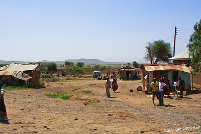 Roadside view outside Arusha Tanzania, 12/31/08