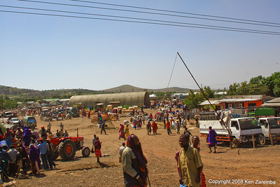 Farmers market outside Arusha Tanzania,