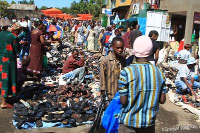 Market vendors near the Serena Mtn. Village Lodge, outside Arusha Tanzania, 12/31/08