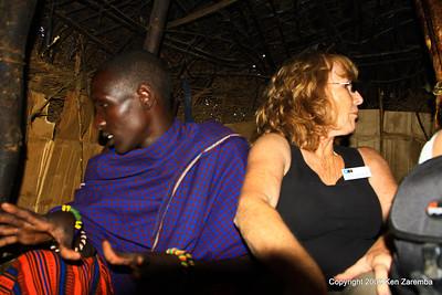 Inside a Maasai Boma, Tanzania 1/03/09
