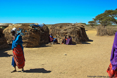 Maasai village scene, Tanzania 1/03/09