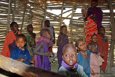 Maasai children in the village school, Tanzania 1/03/09