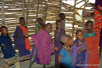 Maasai children in their village school, Tanzania 1/03/09