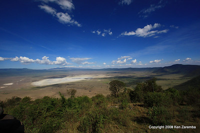 View of the Ngorongoro Crater from our Ngorongoro Crater Serena Lodge room, Tanzania, 1/01/09