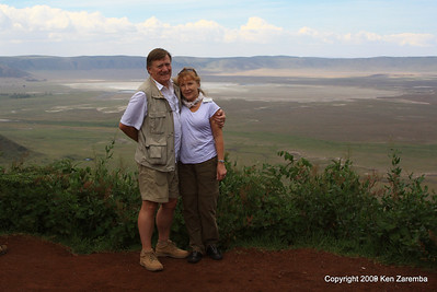 Overlooking the Ngorongoro Crater, Tanzania, 1/01/09