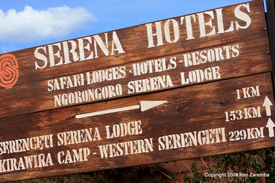 Lat/Long for the Ngorongoro Serena Lodge, where we are staying on 1/01/09 and where we will be staying on 1/02 also, Tanzania