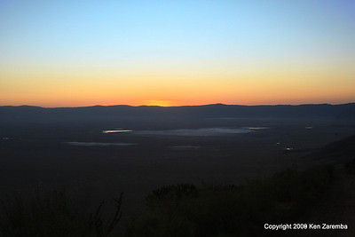 Sunrise over the Ngorongoro Crater Tanzania, 1/02/09