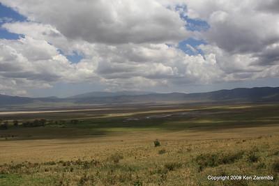 leaving the Ngorongoro Crater Tanzania, 1/02/09