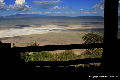 Ngorongoro  Crater from our Ngorongoro Serena Lodge room, Tanzania, 1/01/09