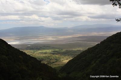 Leaving the Ngorongoro Crater, Tanzania 1/02/09