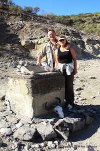 Ken & Susan in Olduvai Gorge Tanzania, 1/03/09