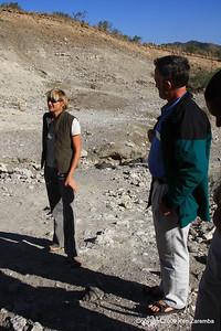 Louise Leakey & David Bygott (NGE Group Guide), Olduvai Gorge Tanzania 1/03/09