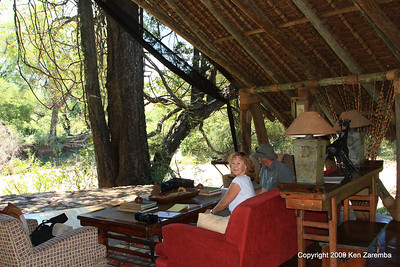 Signing in at Jongomero Safari Camp, Ruaha Nat. Pk. Tanzania, 1/09/09