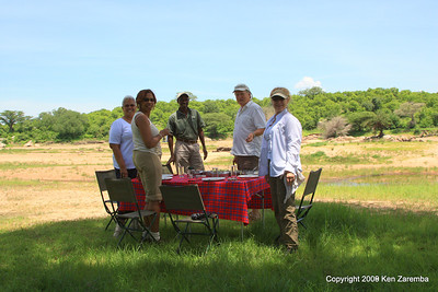 Lunch time on our all day game safari from Jongomero Camp, Ruaha Nat. Pk. Tanzania, 1/10/09