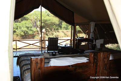 The bedroom of our tent, Jongomero Safari Camp, Ruaha Nat. Pk. Tanzania, 1/09/09