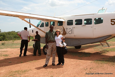 Departing from Jongomero Safari Camp, Jongomero Airstrip, Ruaha Nat. Pk. Tanzania, 1/11/09