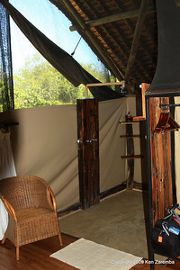 Shower in our tent, Jongomero Safari Camp, Ruaha Nat. Pk. Tanzania, 1/09/09