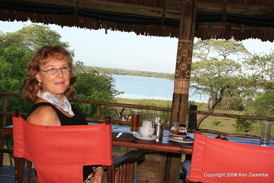 View from the dinning room, Selous Safari Camp Tanzania 1/07/09