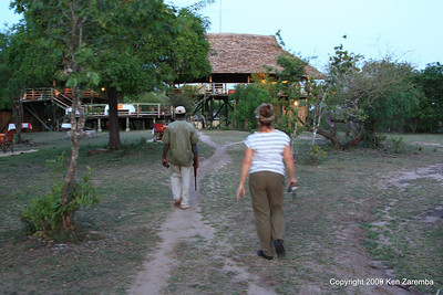 Armed escort for all walking in Selous Safari Camp Tanzania 1/06/09