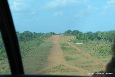 An airstrip in the Selous Game Reserve on our way to Selous Safari Camp Siwando airstrip, Tanzania 1/06/09