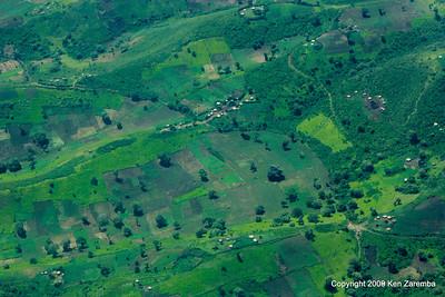 Masai villages and boma,(note farming) Tanzania 1/06/09