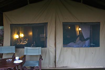 Our tent at Kirawira Camp Western Serengeti, Serengeti nat. Pk. Tanzania 1/06/09