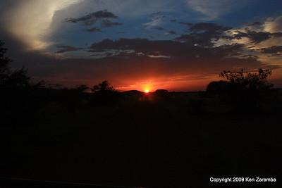 Sunst, Western Serengeti, Serengeti Nat. Pk. Tanzania 1/05/09