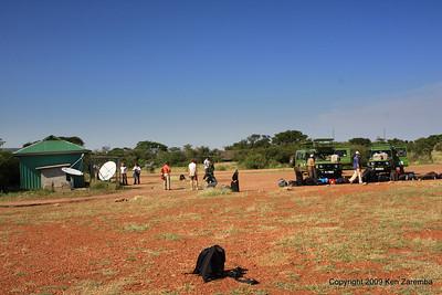 Waiting for the plane at Grumeti airstrip after checking out at Kirawira Camp Western Serengeti Tanzania 1/06/09