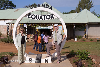 Equator crossing near Lake Victoria