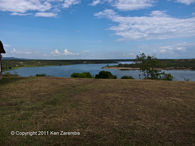 Kazinga Channel between Lakes George & Edward from Mweya Lodge