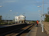 Pic by Liz <br /> <br /> of the Ely Bound platform looking towards Norwich while we ait for <br /> <br /> the only one of two trains to stop here on a Sat