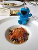 """青殼烏骨雞蛋  小灰蝸牛,朝鮮薊與西班牙辣腸<br /> Silkie Hen's EggSnails """"Petits Gris"""" and Chorizo"""