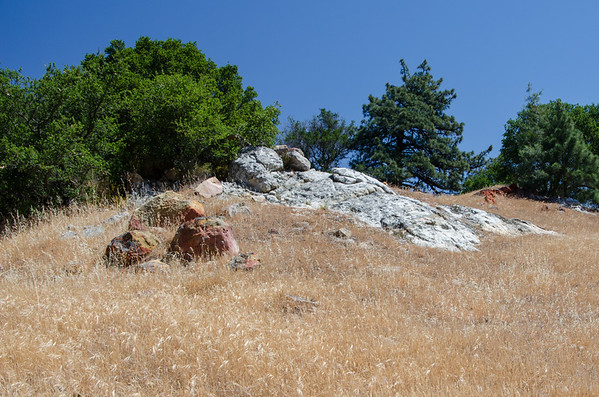 black diamond mines regional park; california Grey, red, orange. Quite the colorful rock pile.