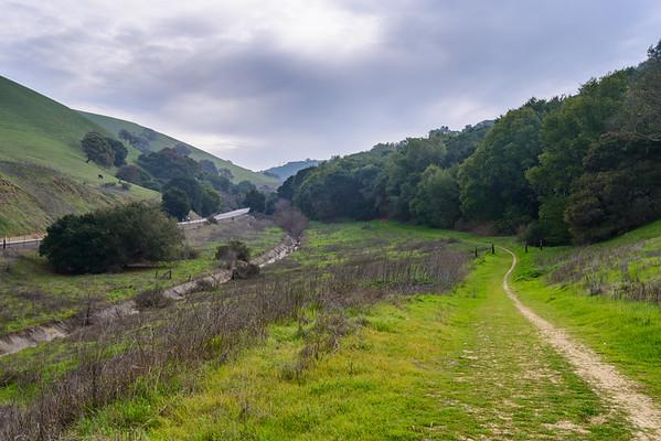 california; crockett hills regional park; east bay; east bay regional parks; san francisco bay area Looking Northwest down Cummings Skyway.