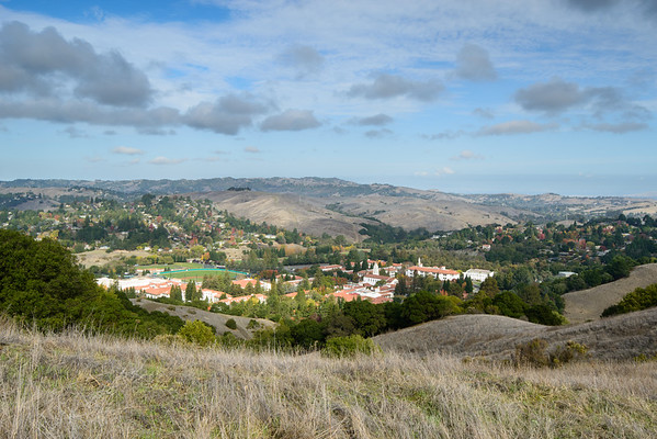 california; east bay; east bay regional parks; old moraga ranch regional trail; san francisco bay area A fabulous location for a college. An observatory we assume belongs to the school is loacted to the right, just out of sight.