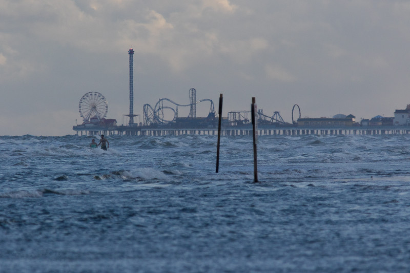 Looking West Toward The Pleasure Pier.