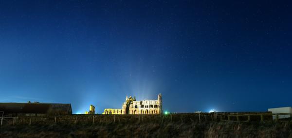 Whitby Abbey under Starlight