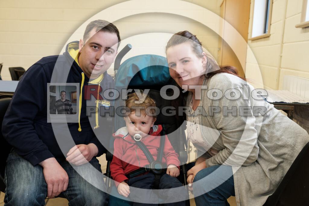 Tony Kinneally & Pamela Mackey with baby Liam at the Ballinrostig Vintage Club run. Picture: Rory O'Toole