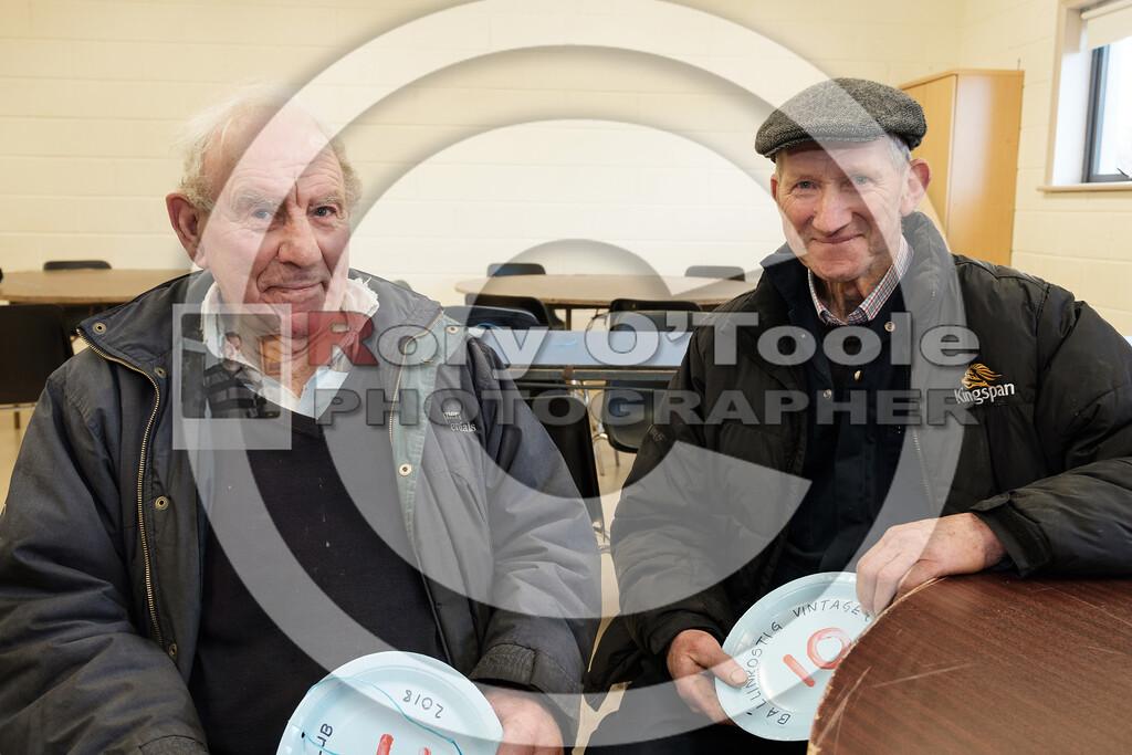 Tom Flavin & Christy Harrington at the Ballinrostig Vintage Club run. Picture: Rory O'Toole
