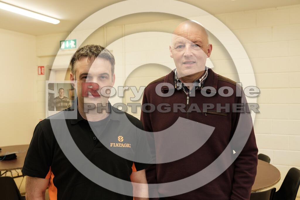 Gordon O'Mahony & Tom Crotty at the Ballinrostig Vintage Club run. Picture: Rory O'Toole