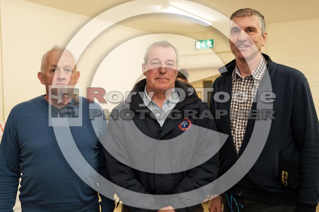 Pat Kearney, Richard Jeffrey & Jim Harte at the Ballinrostig Vintage Club run. Picture: Rory O'Toole