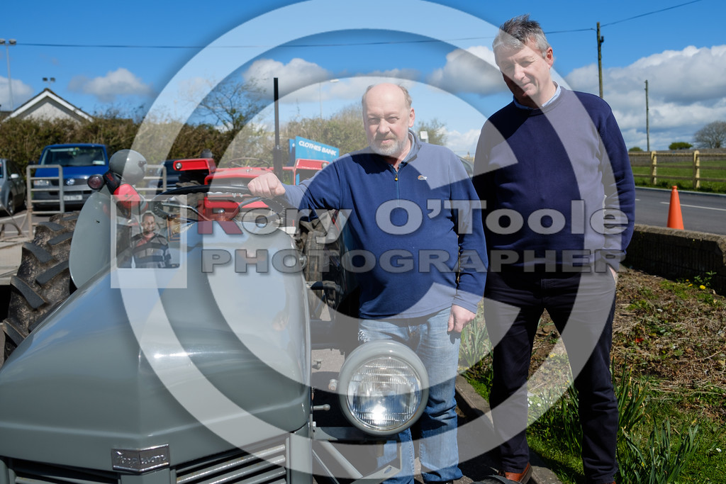 Tony Mulcahy and Brian Daly at the Ballinrostig Vintage Club run. Picture: Rory O'Toole