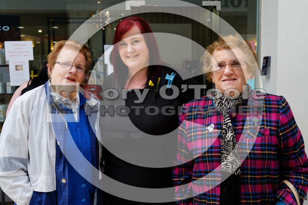 Maura O'Keeffe, Tracy Farmer & Besty Forrest at the Fusion Help Aaron Fundraiser. Picture: Rory O'Toole