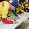 Signing the poster at the start of the Darkness into Light Walk in Midleton