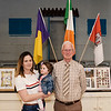 Denis with councillor Danielle Twomey and her daughter Aoife. Denis O'Sullivan's GAA Collection Expo. Picture: Rory O'Toole