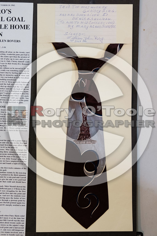 A tie owned by Christy Ring. Denis O'Sullivan's GAA Collection Expo. Picture: Rory O'Toole