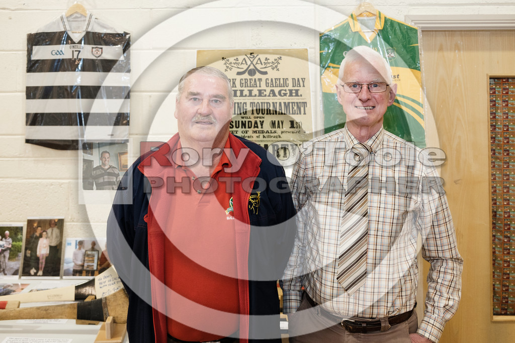 Finbarr Wall, collecter from Ballynookera with Denis. Denis O'Sullivan's GAA Collection Expo. Picture: Rory O'Toole