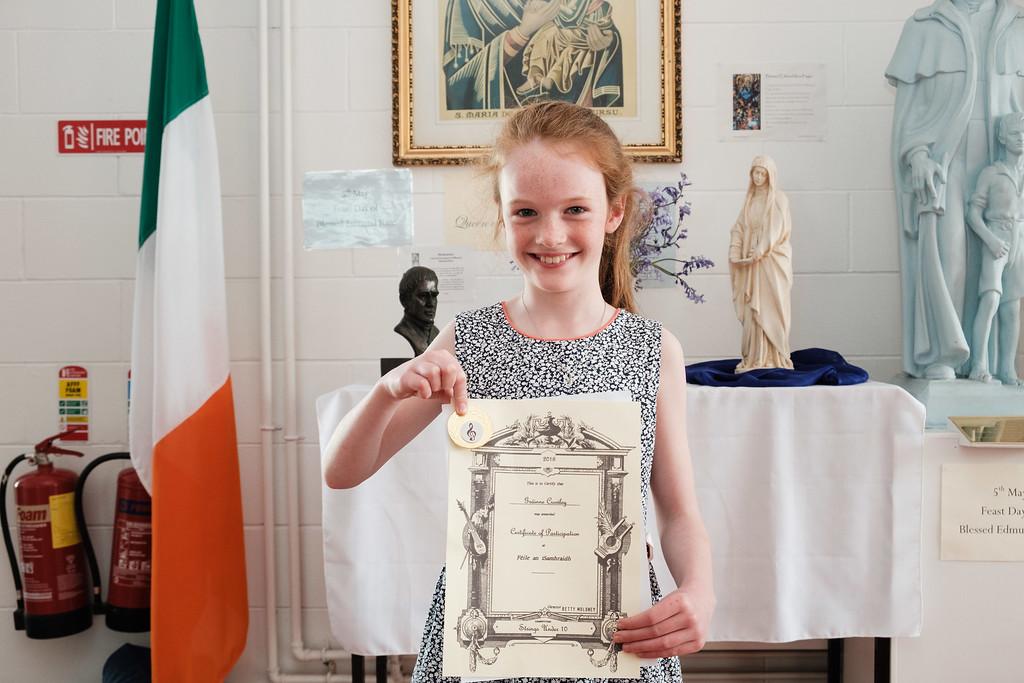 Grainne Crowley, gold medal violin winner