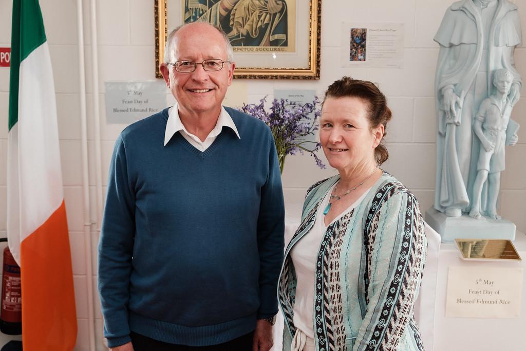 Dr. Albert Bradshaw, adjudicator and Mary Corbett, director